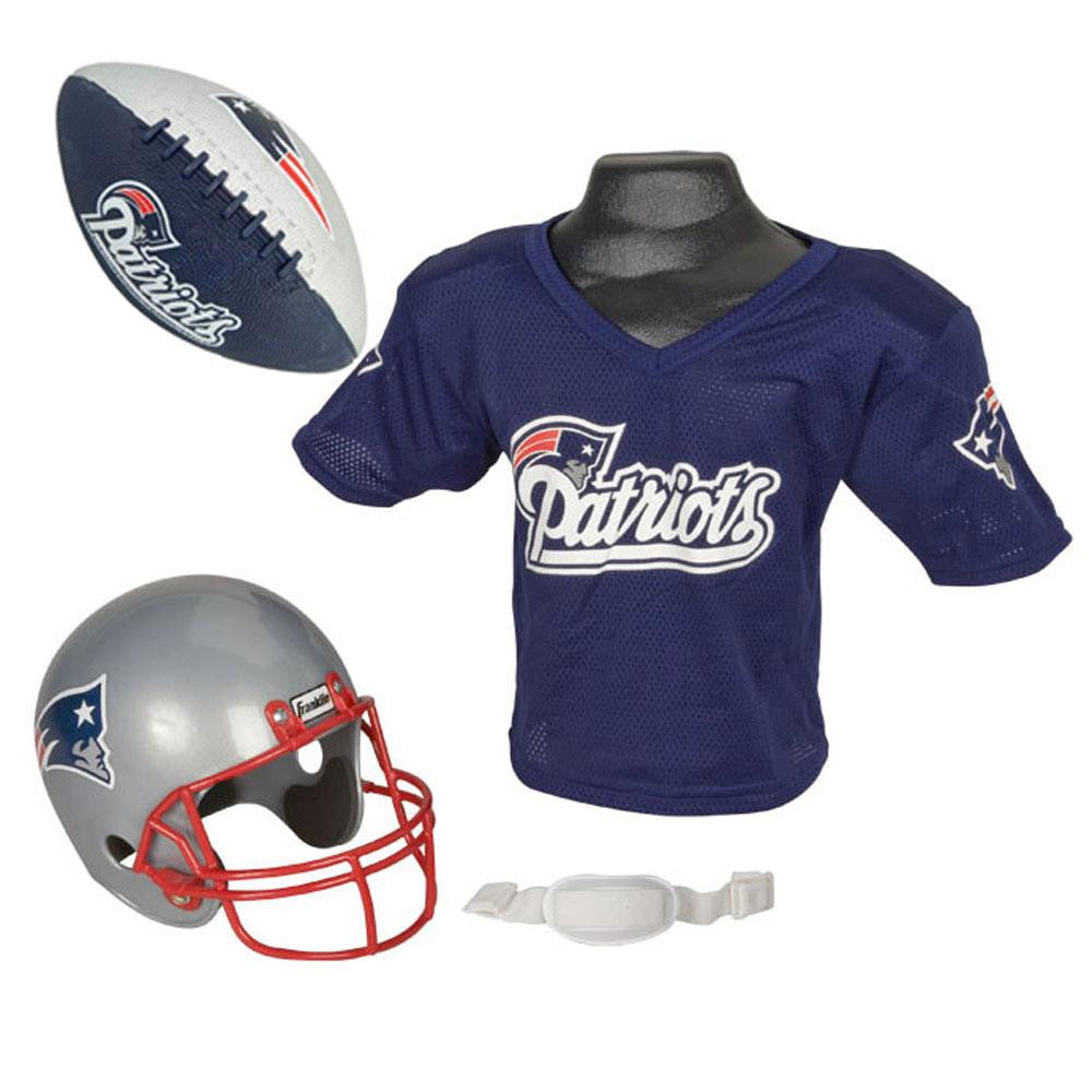 New England Patriots NFL Youth Size Helmet and Jersey With Team Color Football