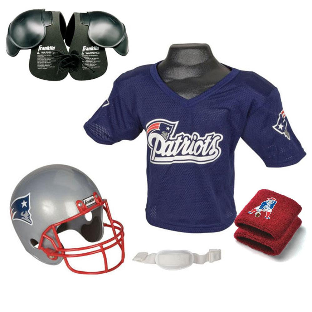New England Patriots Youth NFL Ultimate Helmet and Jersey Set