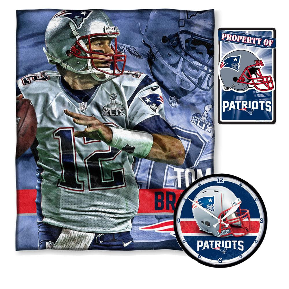 New England Patriots NFL Tom Brady Bedroom Decor 3pc Set