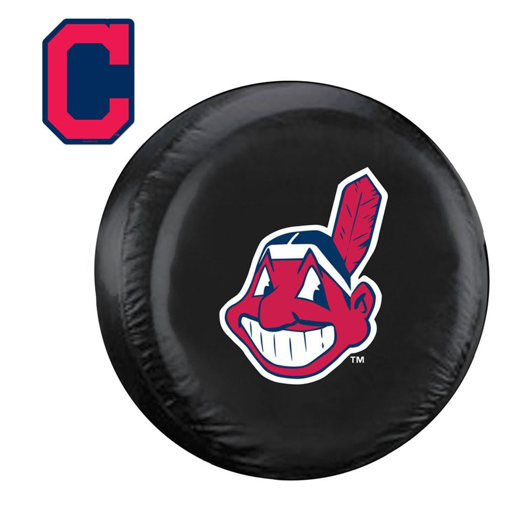 Cleveland Indians MLB Spare Tire Cover and Grille Logo Set (Regular) xyz