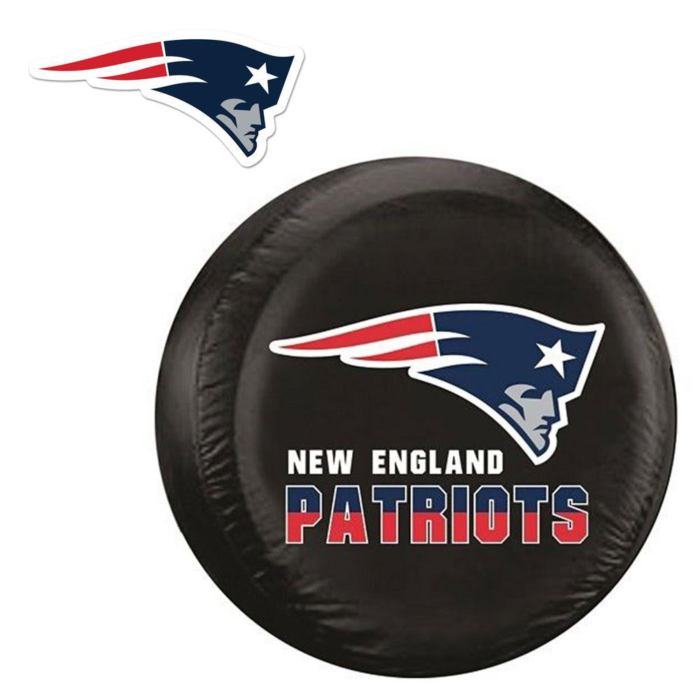 New England Patriots NFL Spare Tire Cover and Grille Logo Set (Regular) xyz