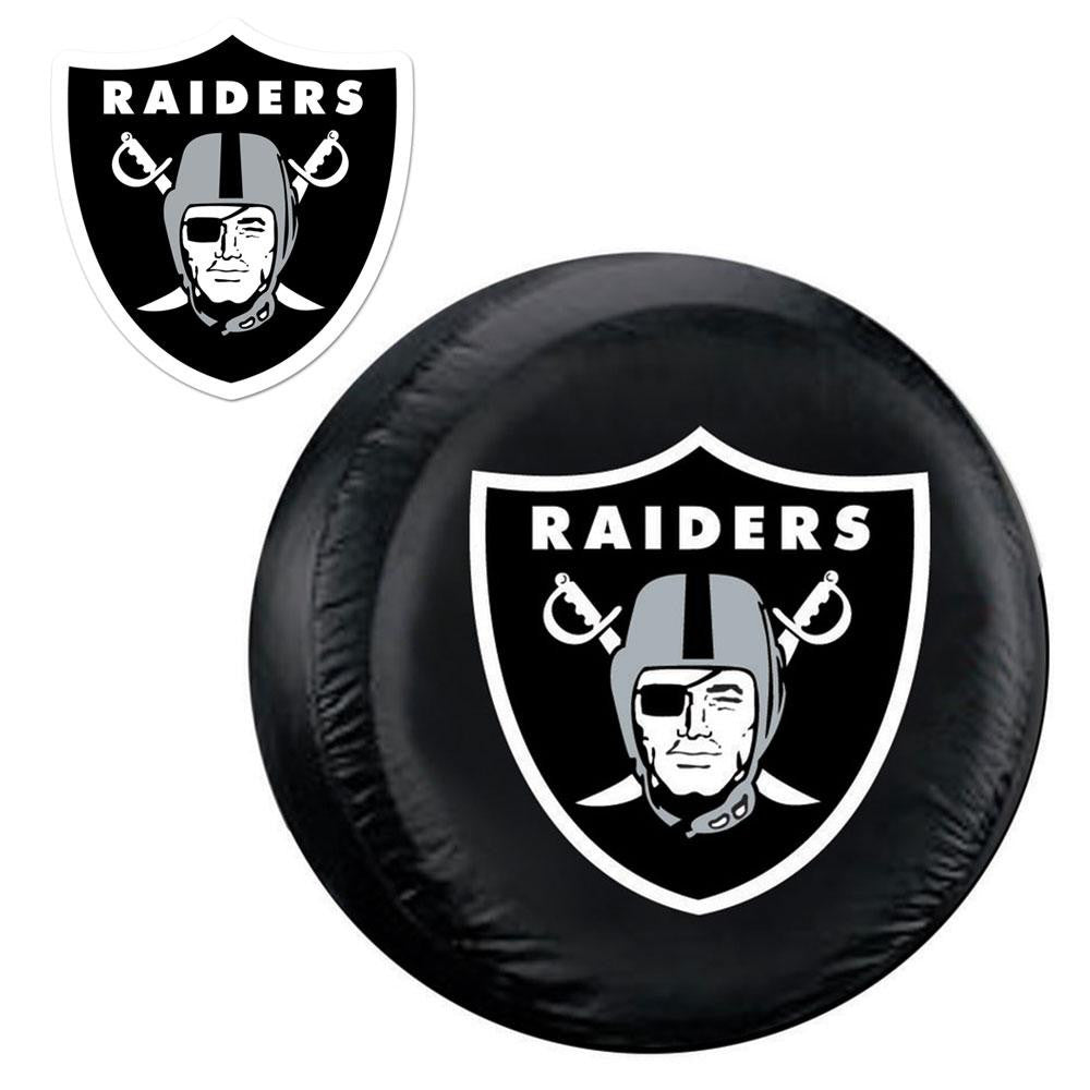Oakland Raiders NFL Spare Tire Cover and Grille Logo Set (Regular)