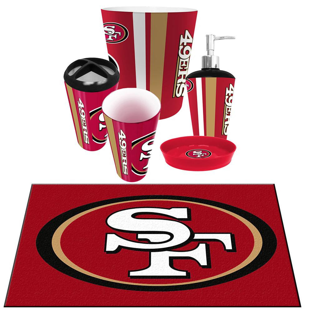 San Francisco 49ers NFL 6pc Bath Accessories Set