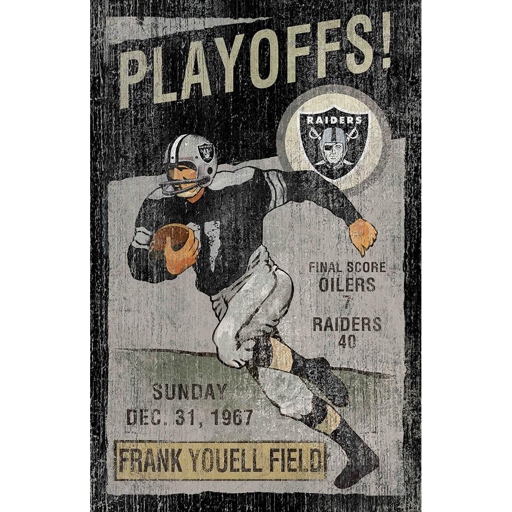 Oakland Raiders NFL Vintage Wall Art