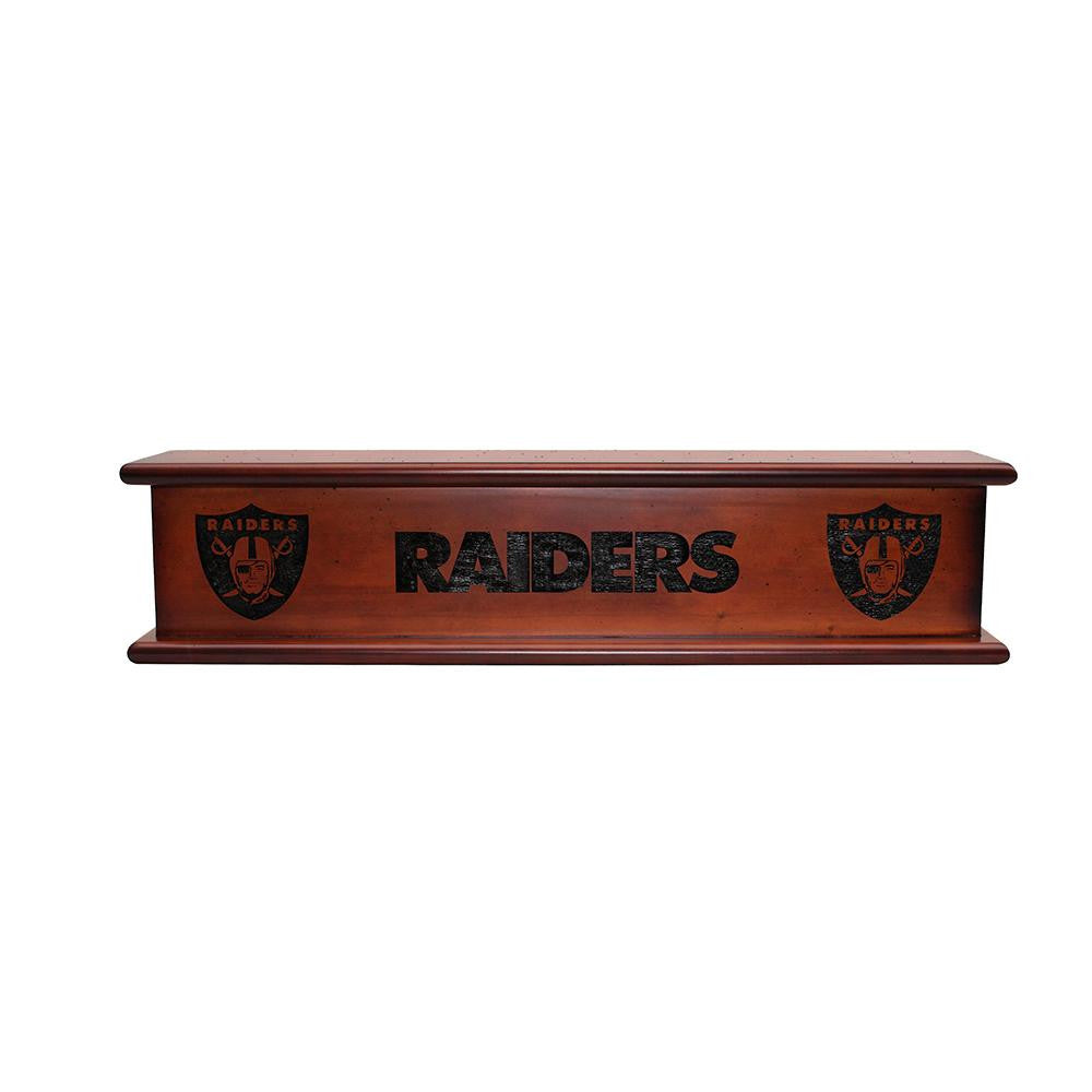 Oakland Raiders NFL 20in Aspen Wood Memorabilia Shelve