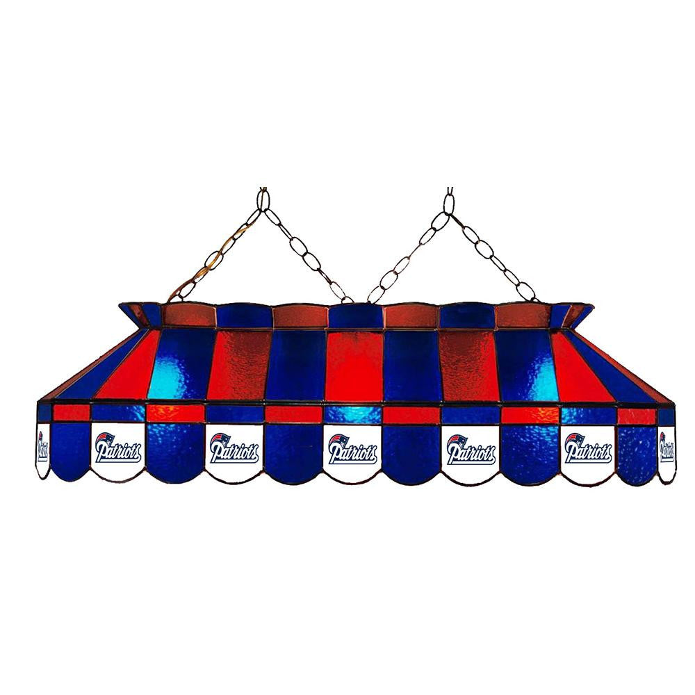 New England Patriots NFL 40 Inch Billiards Stained Glass Lamp