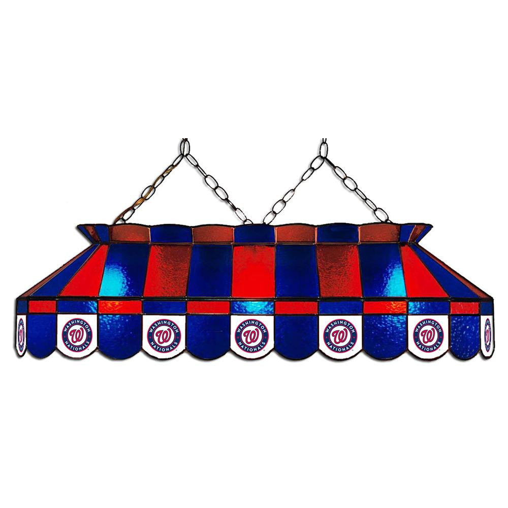 Washington Nationals MLB 40 Inch Billiards Stained Glass Lamp