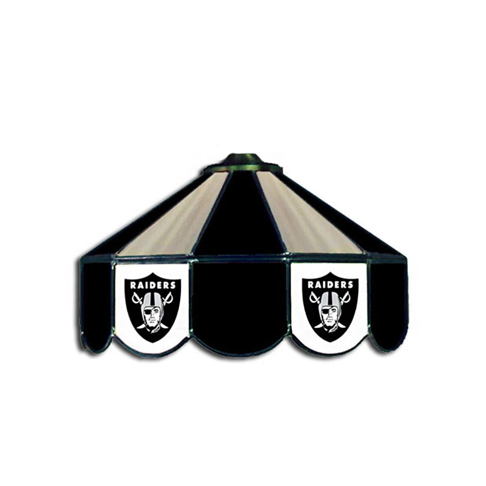 Oakland Raiders NFL 16 Inch Billiards Stained Glass Lamp