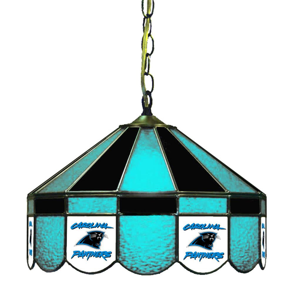 Carolina Panthers NFL 16 Inch Billiards Stained Glass Lamp