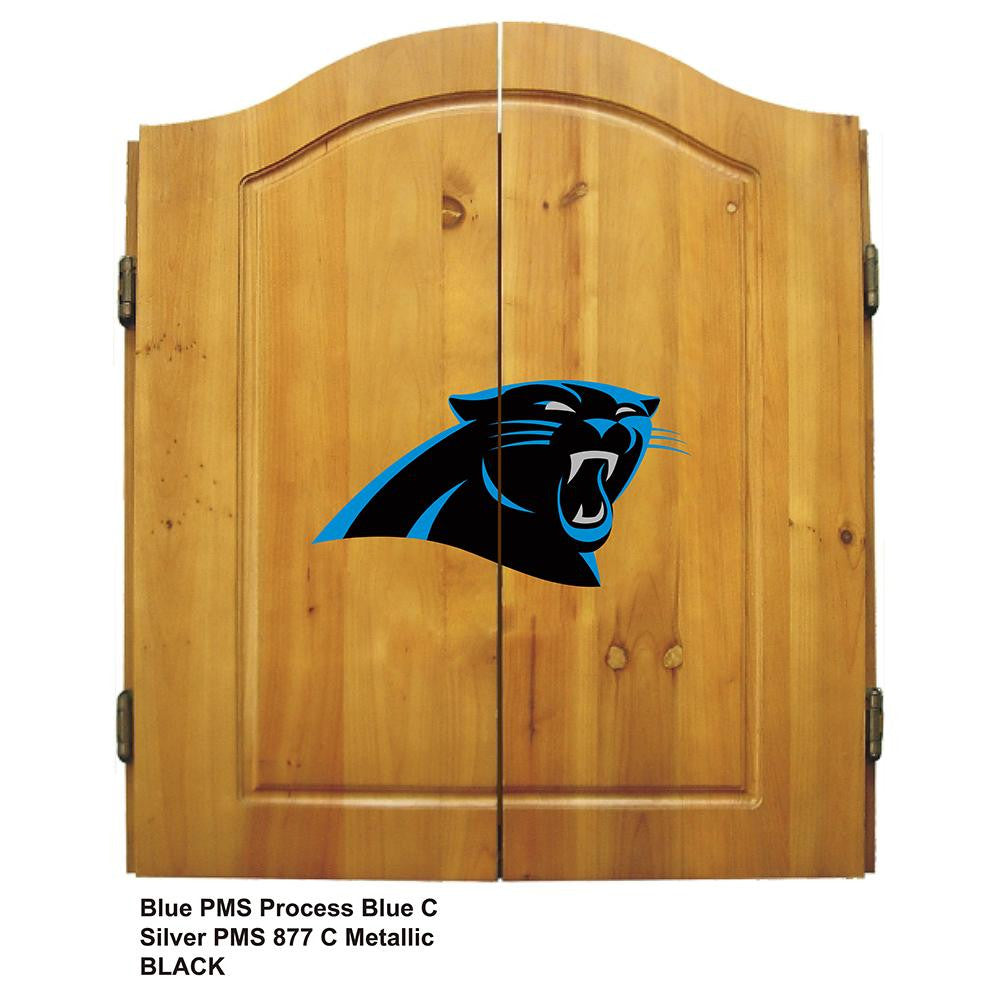Carolina Panthers NFL Dart Board w/Cabinet