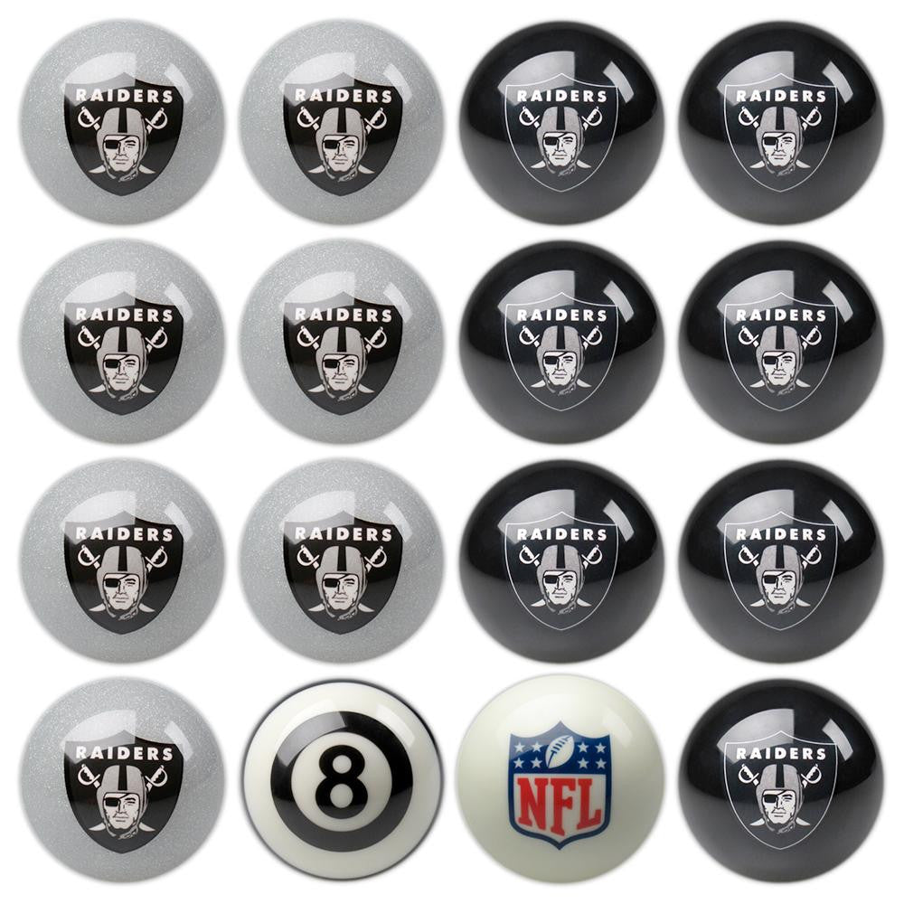 Oakland Raiders NFL 8-Ball Billiard Set