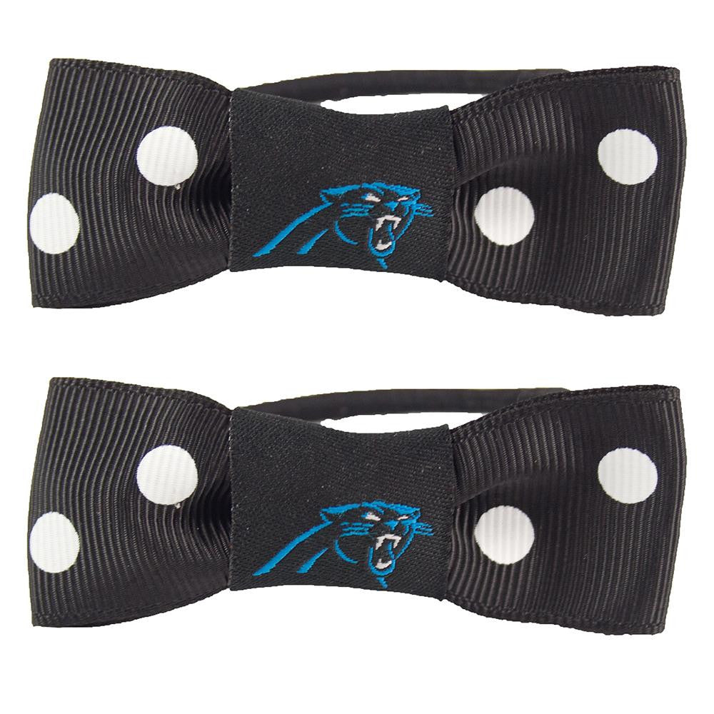 Carolina Panthers NFL Bow Pigtail Holder