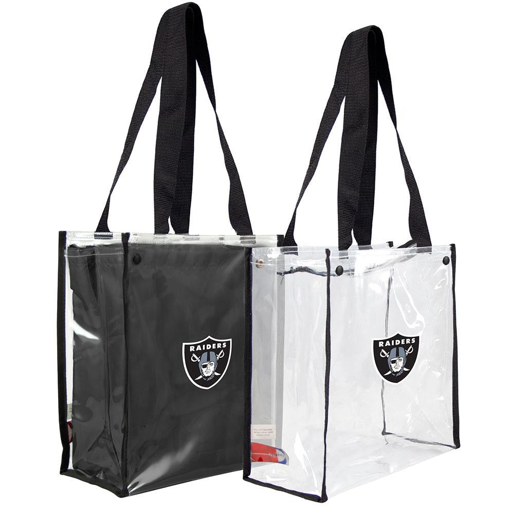 Oakland Raiders NFL Convertible Clear Tote