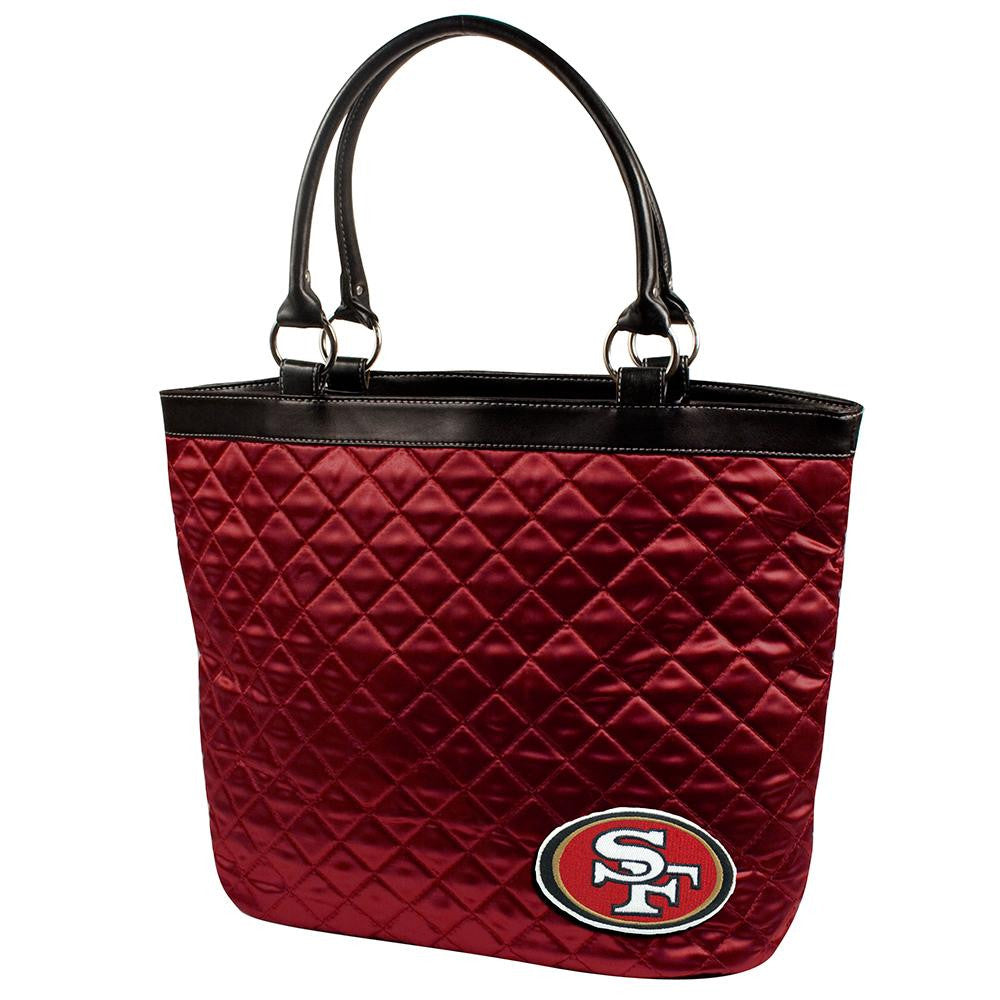 San Francisco 49ers NFL Quilted Tote (Dark Red)