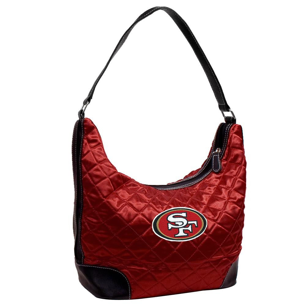 San Francisco 49ers NFL Quilted Hobo (Dark Red)