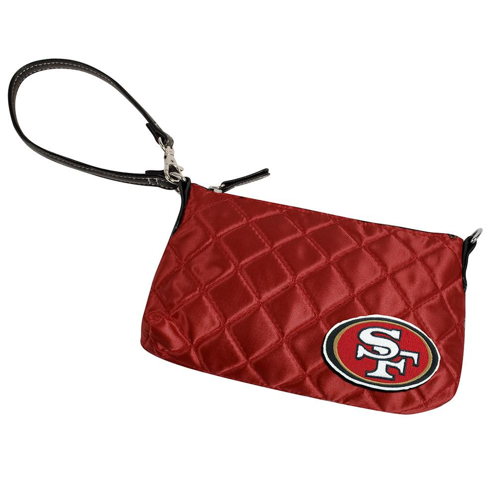 San Francisco 49ers NFL Quilted Wristlet (Dark Red)