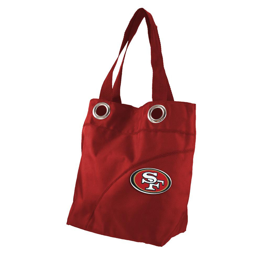 San Francisco 49ers NFL Color Sheen Tote (Dark Red)
