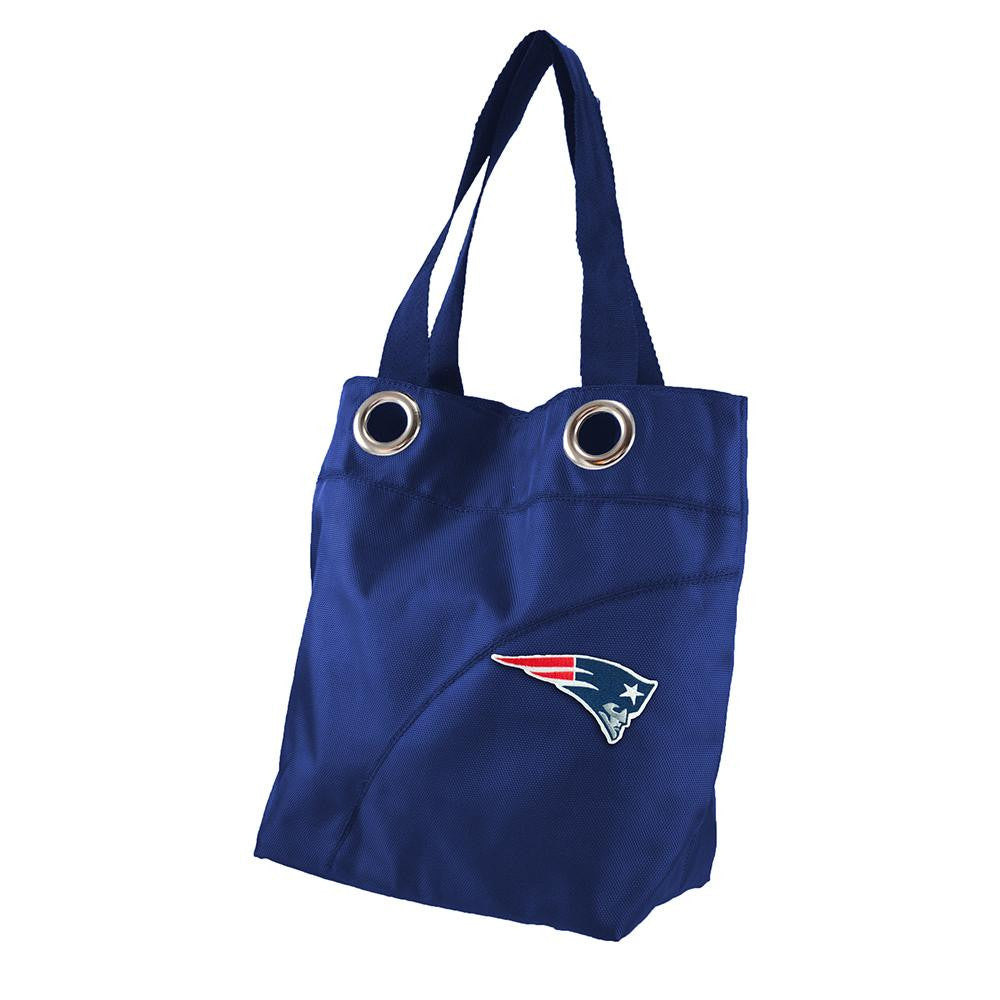New England Patriots NFL Color Sheen Tote (Navy)