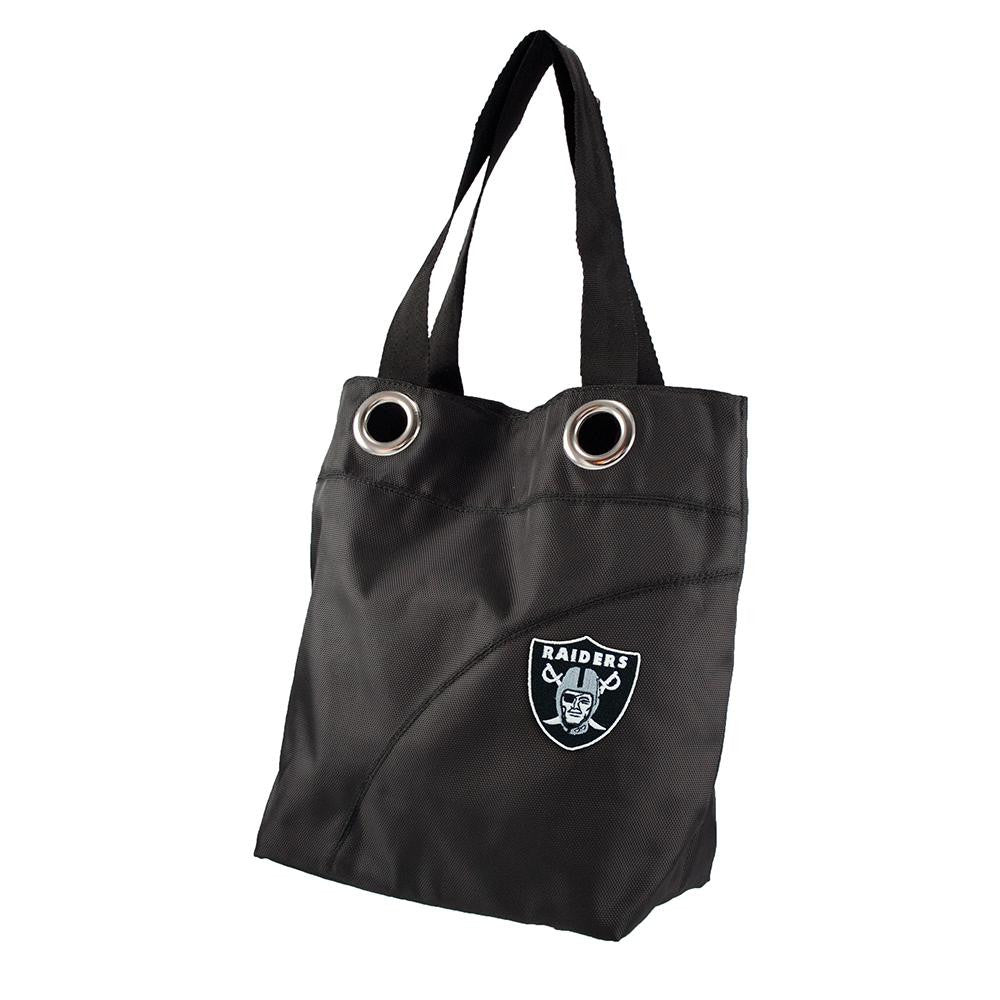 Oakland Raiders NFL Color Sheen Tote (Black)