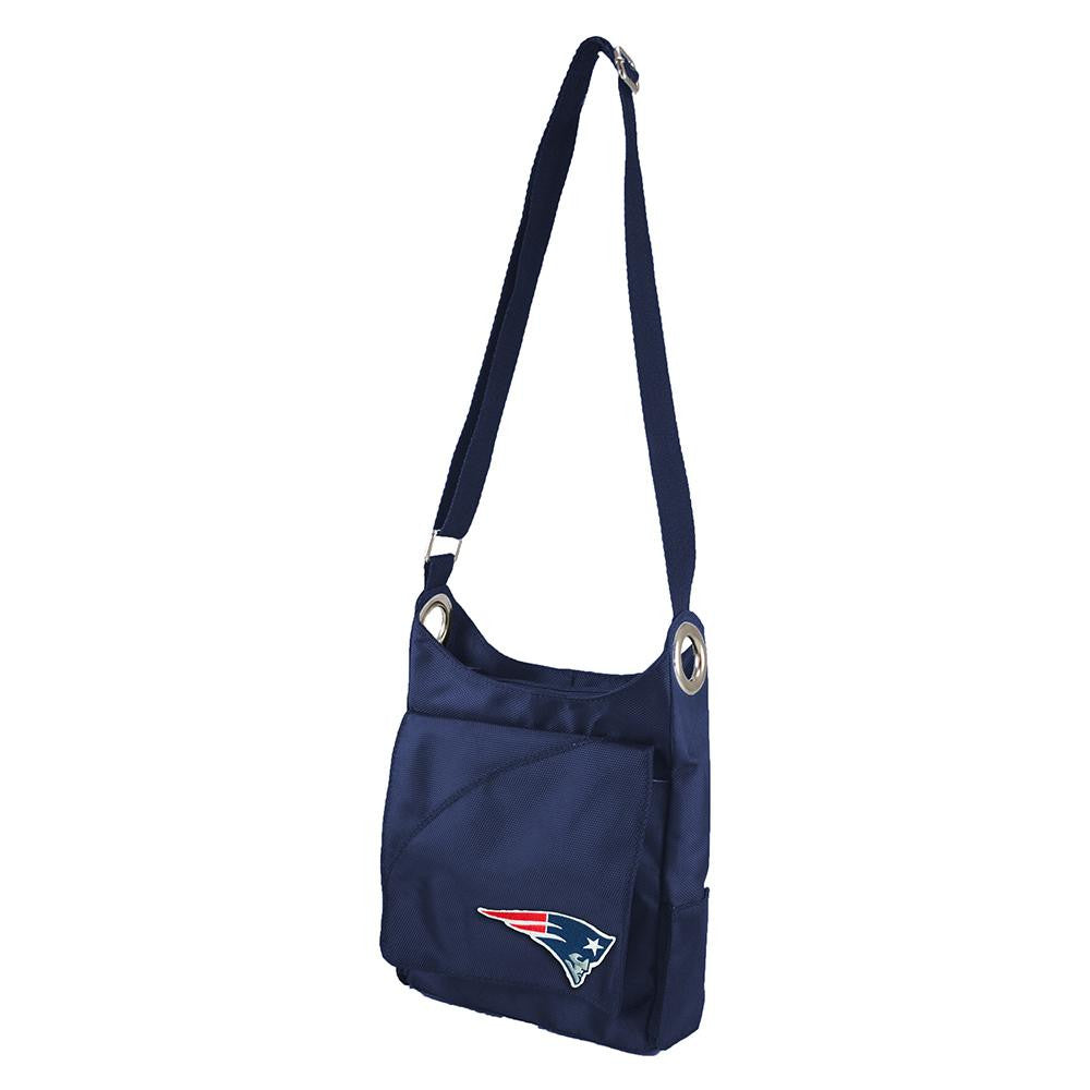 New England Patriots NFL Color Sheen Cross-body Bag (Navy)
