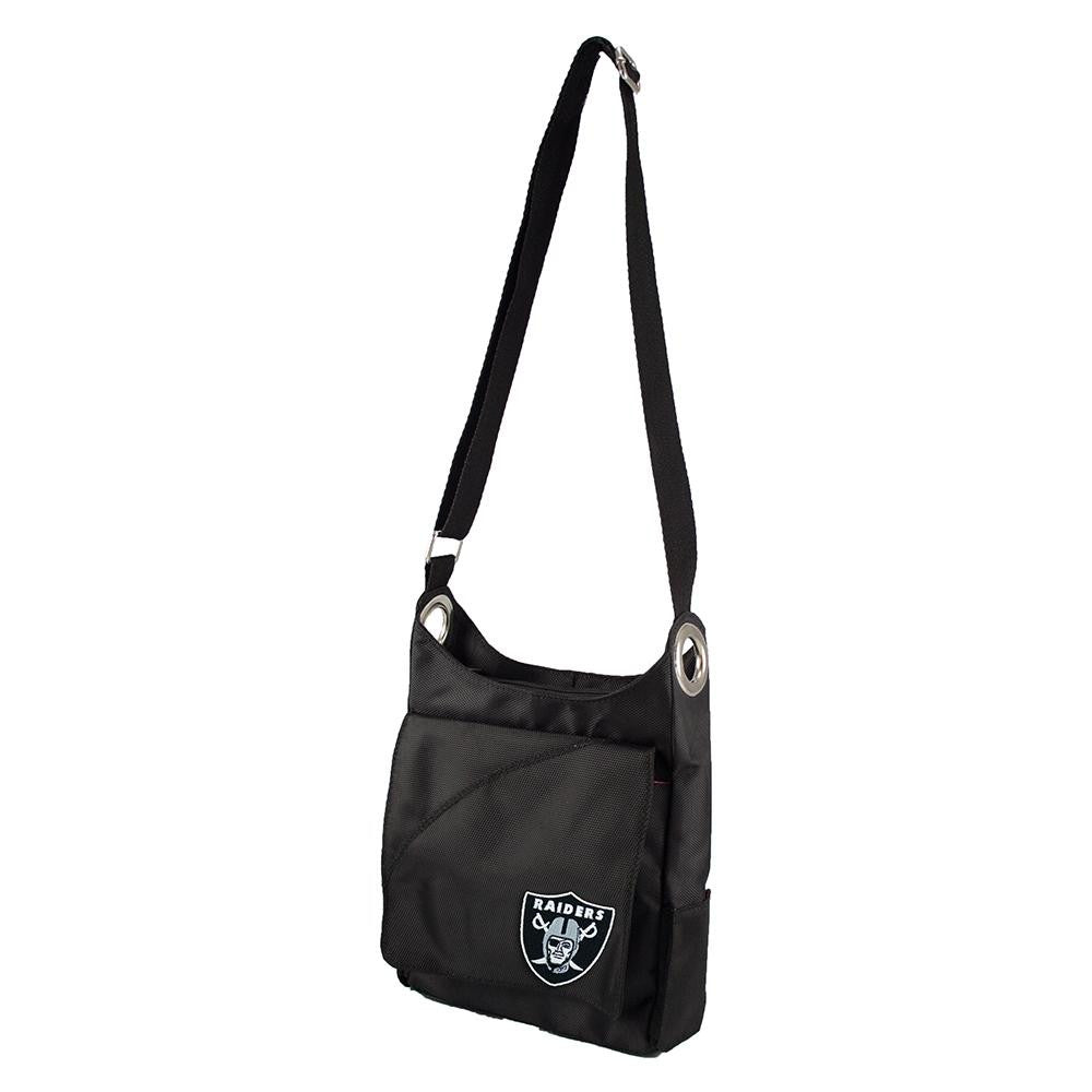 Oakland Raiders NFL Color Sheen Cross-body Bag (Black) xyz