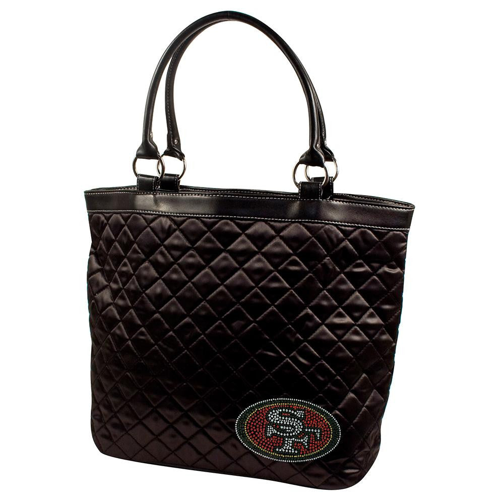 San Francisco 49ers NFL Sport Noir Quilted Tote