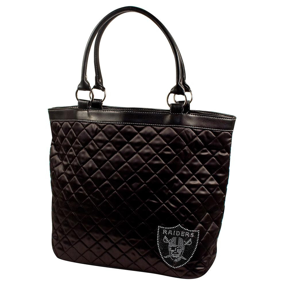 Oakland Raiders NFL Sport Noir Quilted Tote