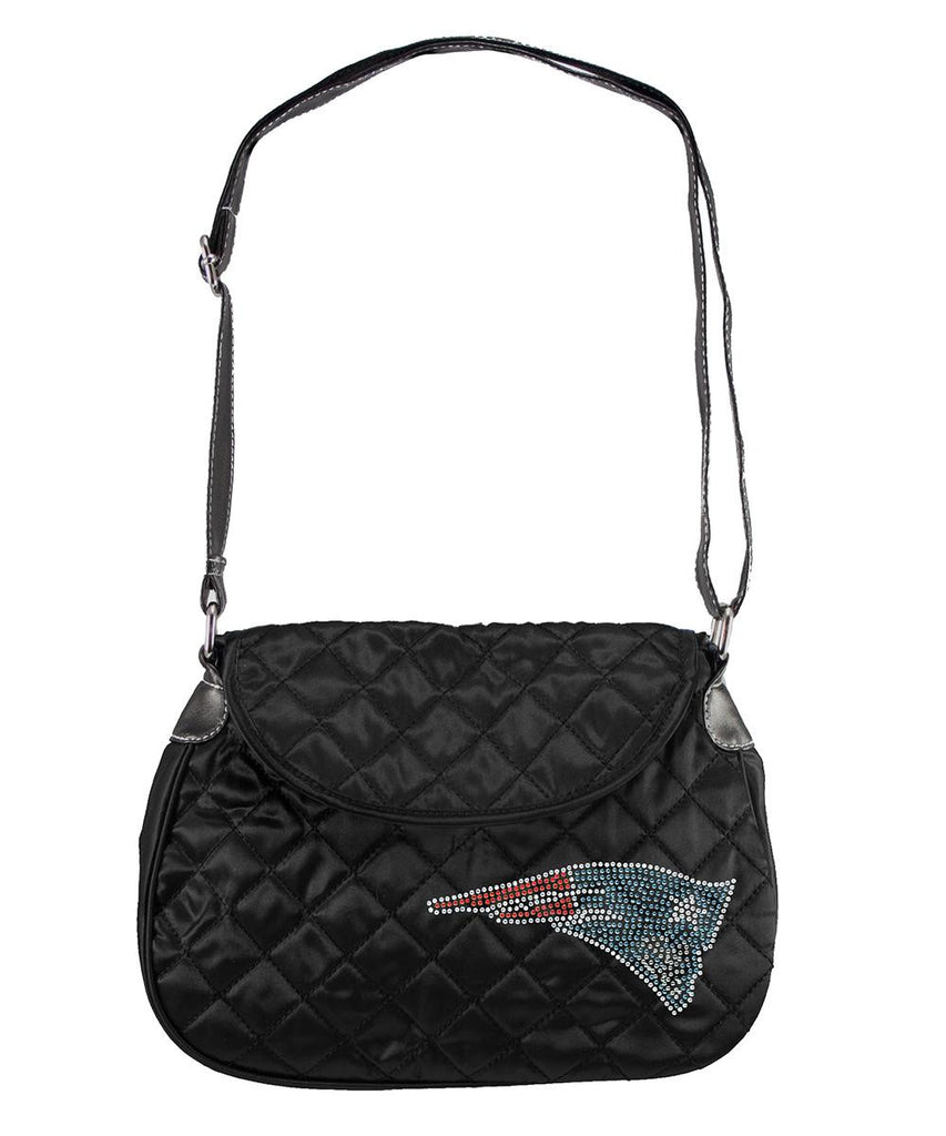 New England Patriots NFL Sport Noir Quilted Saddlebag