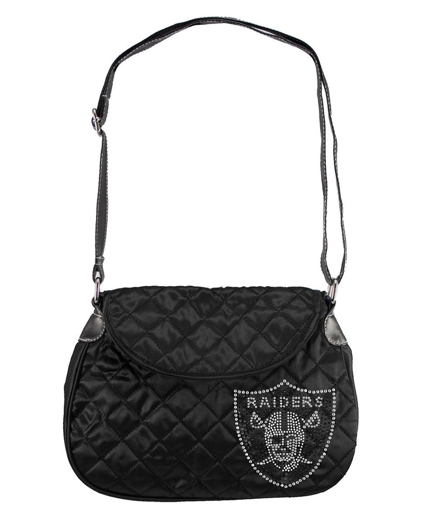 Oakland Raiders NFL Sport Noir Quilted Saddlebag