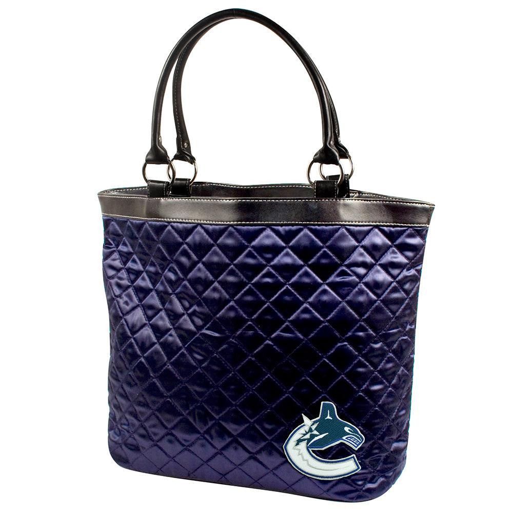 Vancouver Canucks NHL Quilted Tote (Navy)
