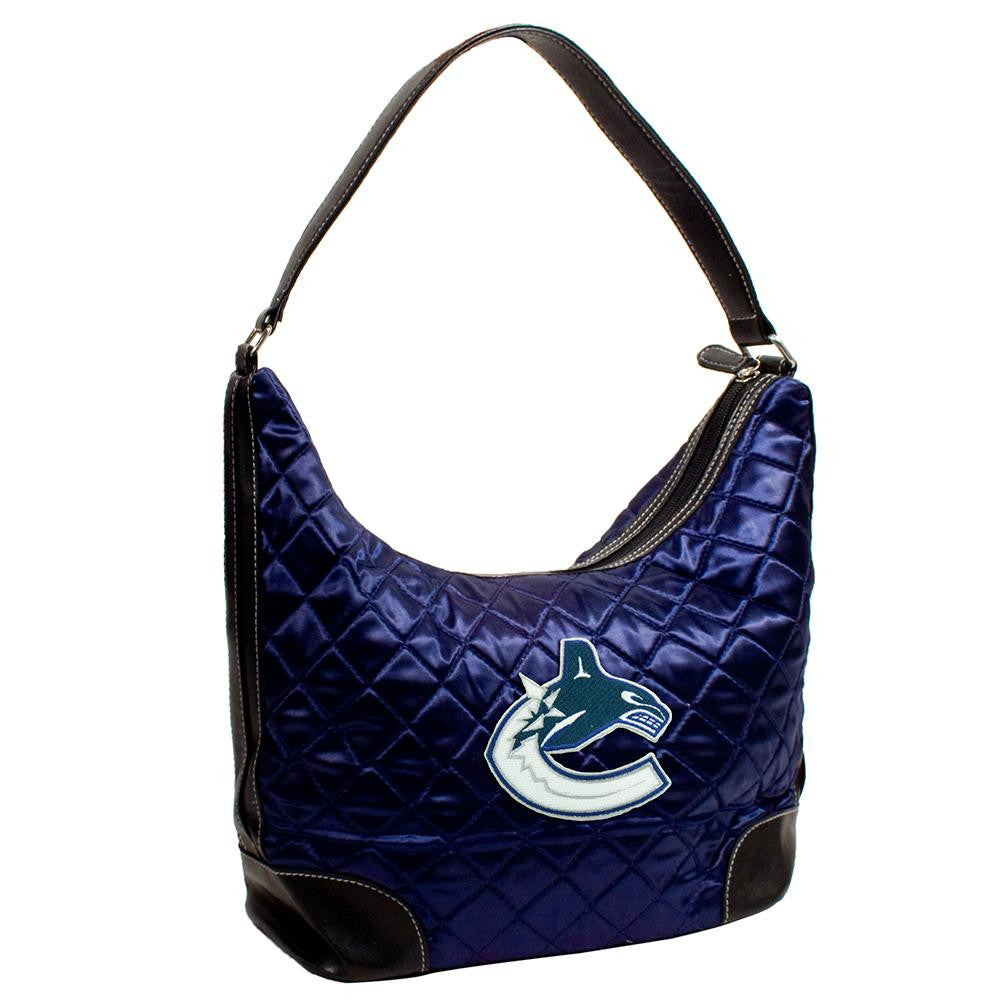 Vancouver Canucks NHL Quilted Hobo (Navy)
