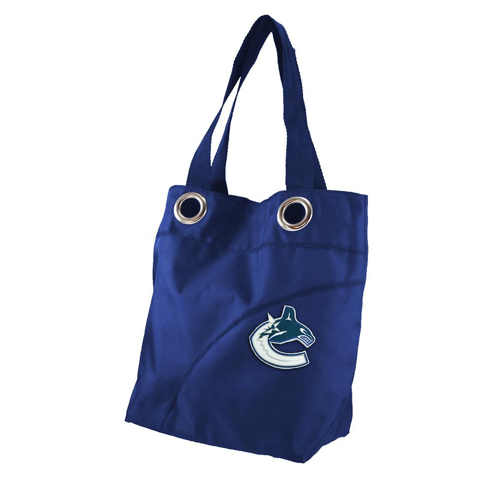Vancouver Canucks NHL Color Sheen Tote (Navy)
