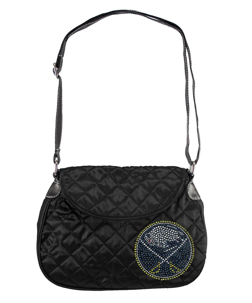 Buffalo Sabres NHL Sport Noir Quilted Saddlebag