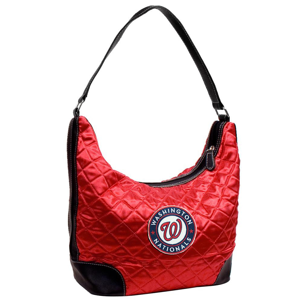 Washington Nationals MLB Quilted Hobo (Light Red)