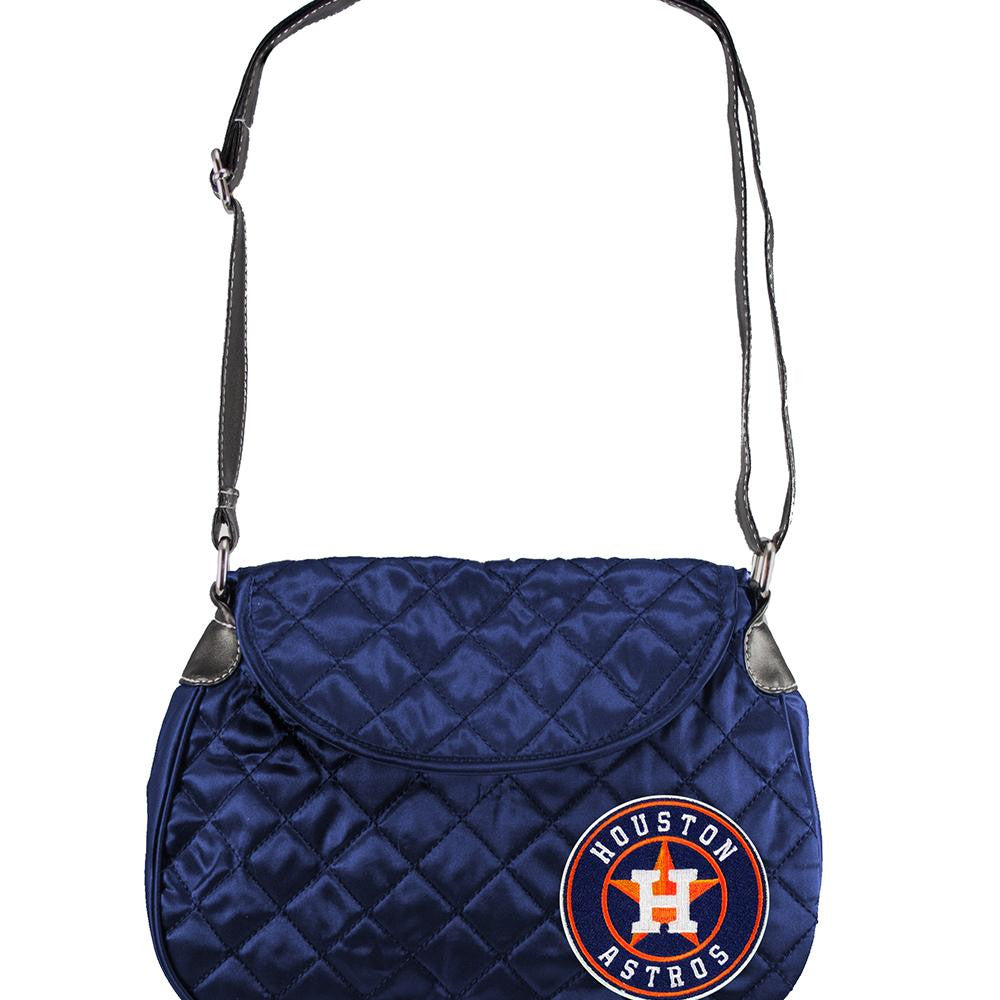 Houston Astros MLB Quilted Saddlebag (Navy)