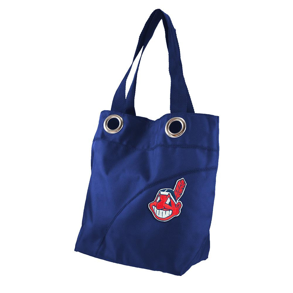 Cleveland Indians MLB Color Sheen Tote (Navy)