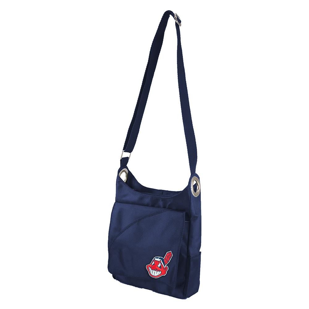 Cleveland Indians MLB Color Sheen Cross-body Bag (Navy) xyz
