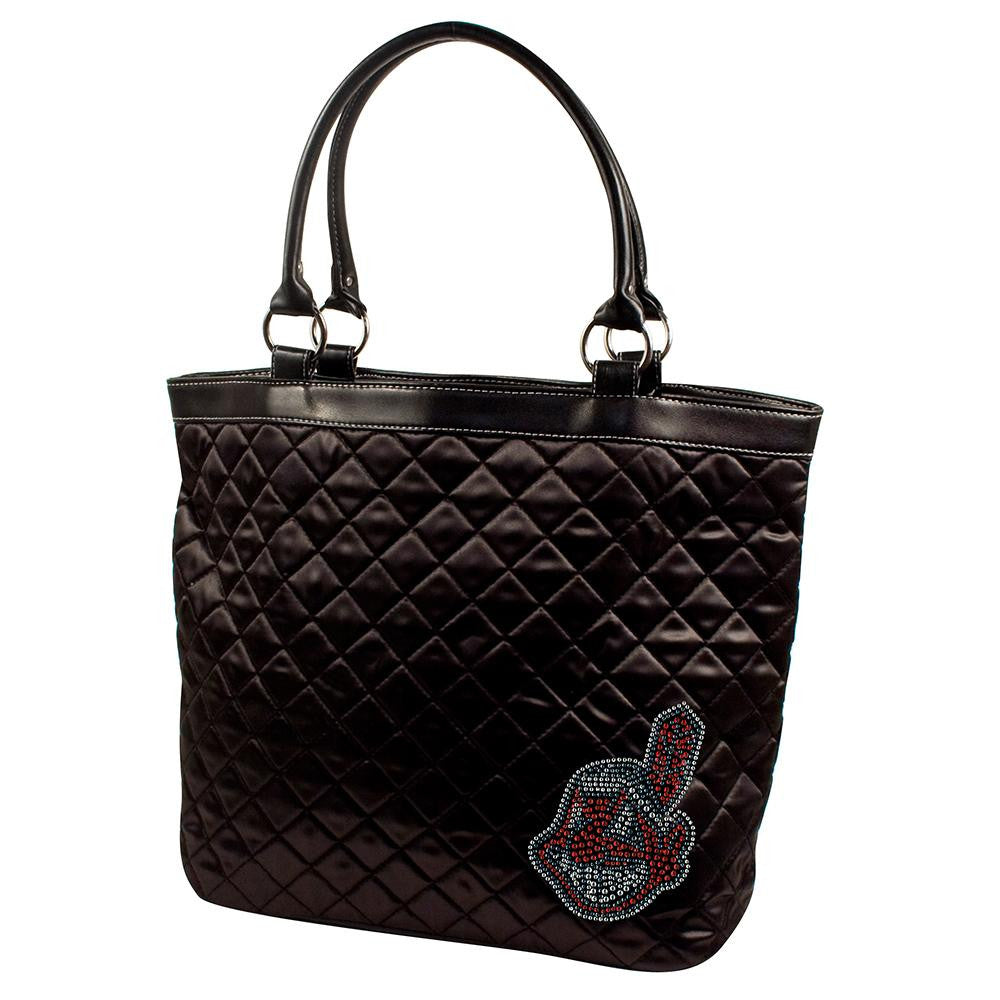 Cleveland Indians MLB Sport Noir Quilted Tote