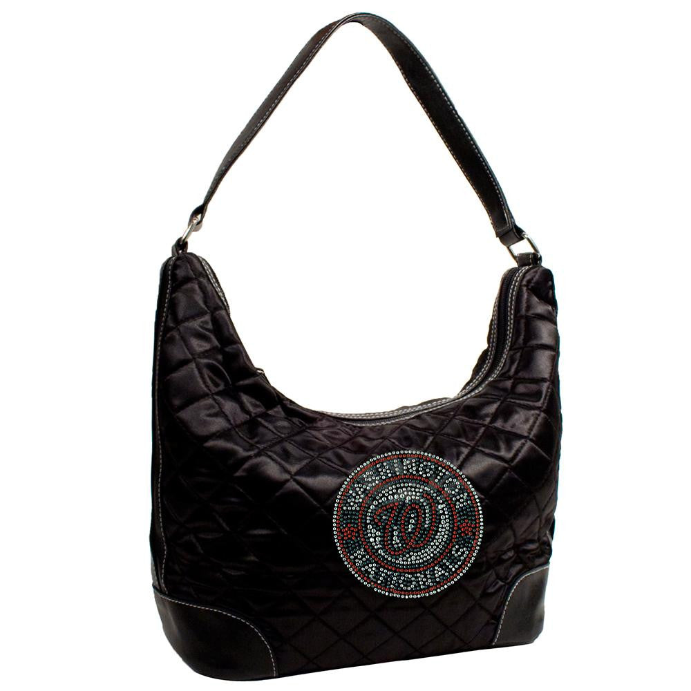 Washington Nationals MLB Sport Noir Quilted Hobo