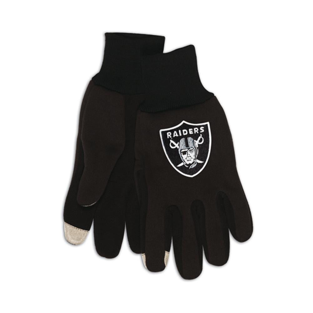 Oakland Raiders NFL Technology Gloves (Pair) xyz