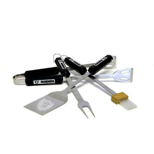 Oakland Raiders NFL BBQ Tool Set