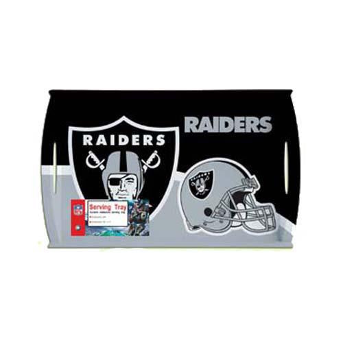 Oakland Raiders NFL Melamine Serving Tray (18 x 11) xyz