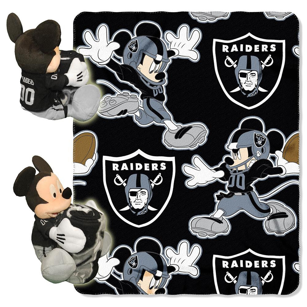 Oakland Raiders NFL Mickey Mouse with Throw Combo
