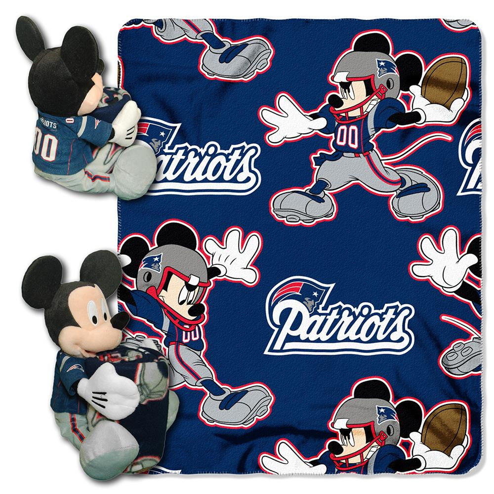 New England Patriots NFL Mickey Mouse with Throw Combo XYZ