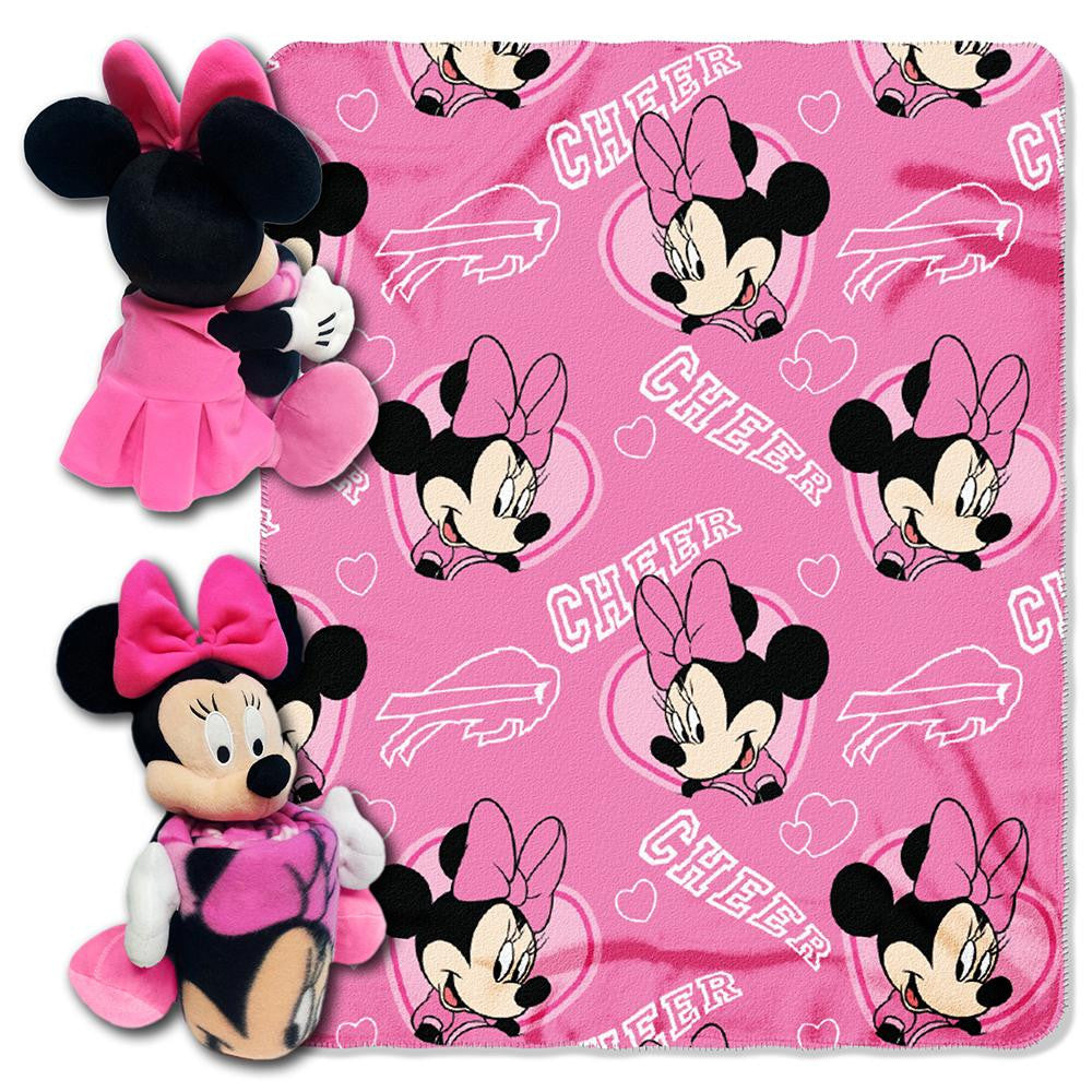 Buffalo Bills NFL Minnie Mouse with Throw Combo