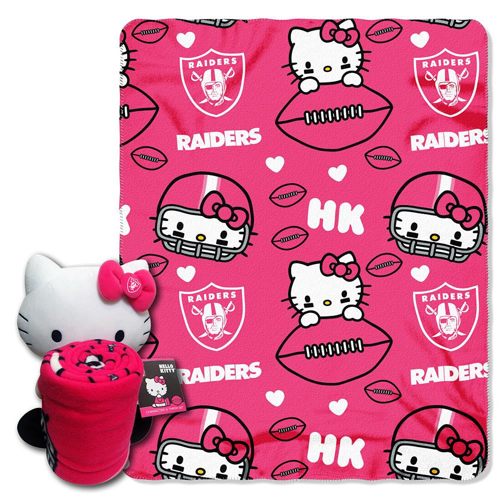Oakland Raiders NFL Hello Kitty with Throw Combo