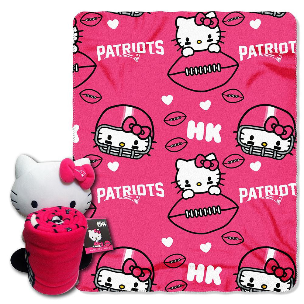 New England Patriots NFL Hello Kitty with Throw Combo