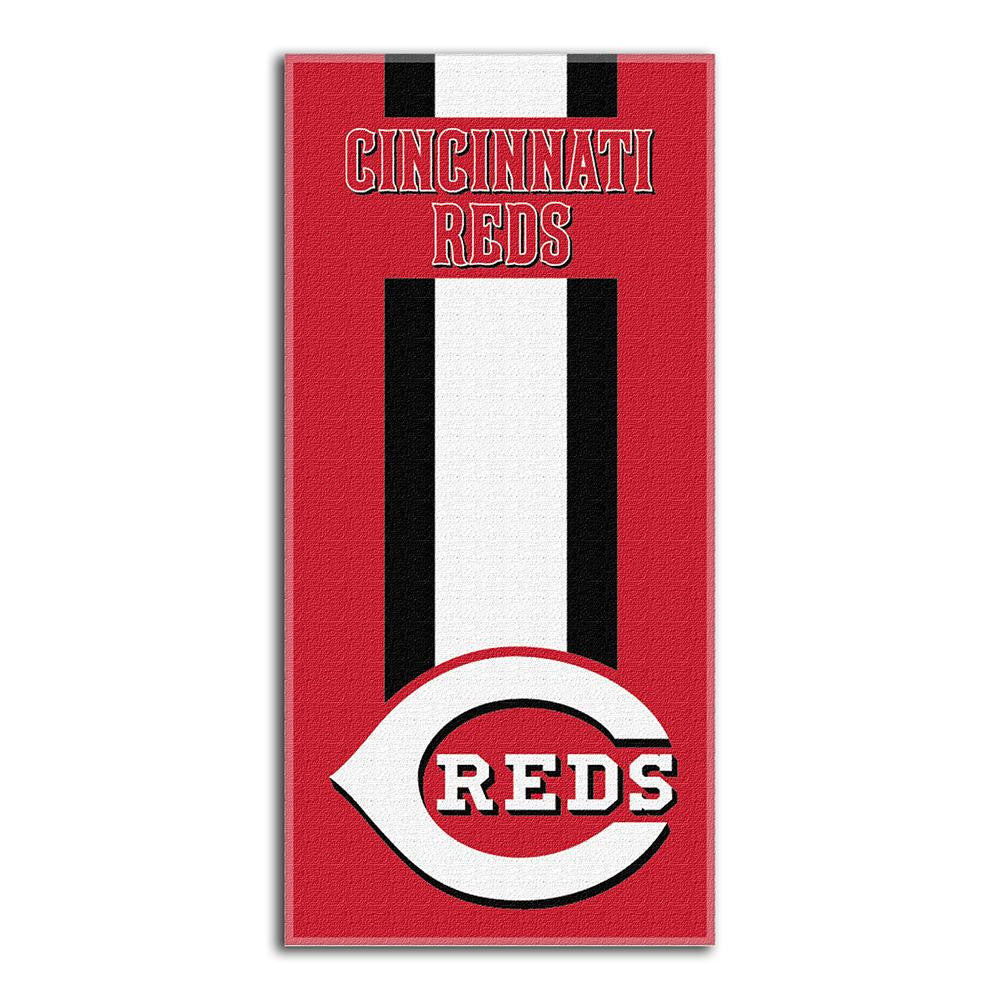 Cincinnati Reds MLB Zone Read Cotton Beach Towel (30in x 60in)