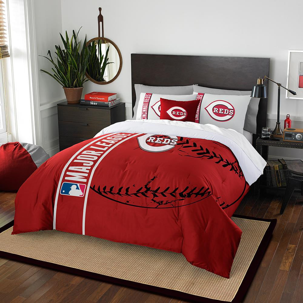 Cincinnati Reds MLB Full Comforter Set (Soft & Cozy) (76 x 86)