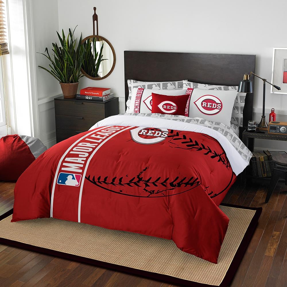 Cincinnati Reds MLB Full Comforter Bed in a Bag (Soft & Cozy) (76in x 86in)